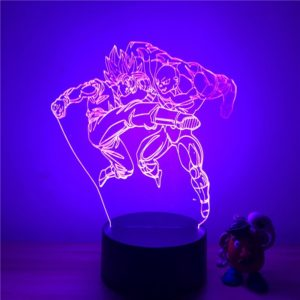Lampe LED 3D - Goku VS Jiren